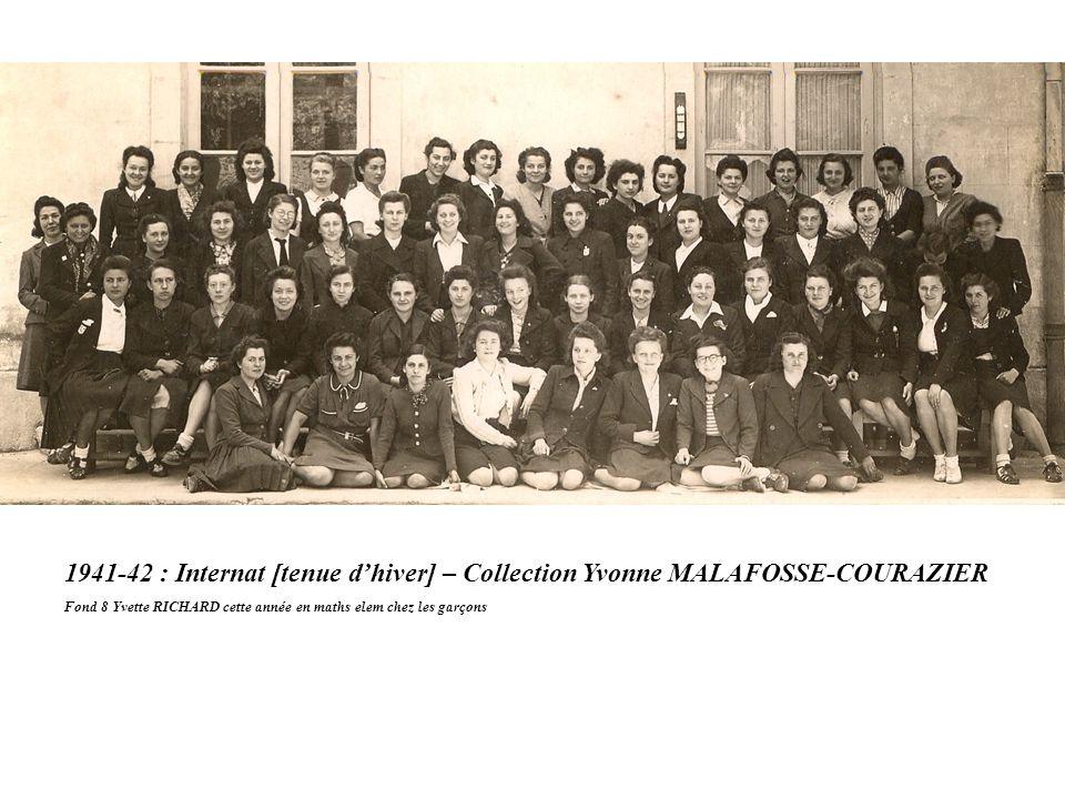 1941-42 : Internat [tenue d'hiver] – Collection Yvonne MALAFOSSE-COURAZIER
